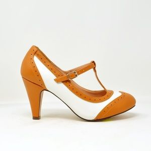 Shoes - ⭐️ Women's Two Tone T-Strap Oxford Pumps